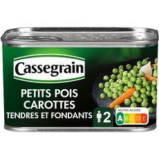 CASSEGRAIN Petits pois carottes sélection tendres et fondants 265g
