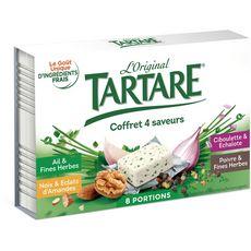 TARTARE Fromage frais coffret 4 saveurs x8 8 portions 133g