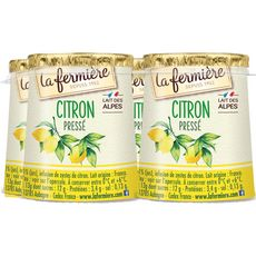 LA FERMIERE Yaourt arômatisé au citron pressé 4x125g