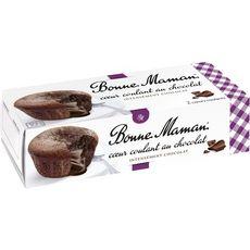 BONNE MAMAN Cœur fondant au chocolat 2x80g