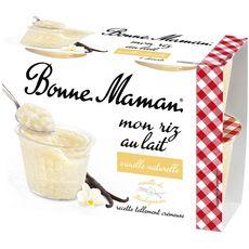 BONNE MAMAN Riz au lait à la vanille 4x100g