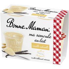 BONNE MAMAN Semoule au lait à la vanille 4x100g