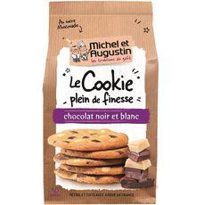 MICHEL ET AUGUSTIN Cookies super fins et croustillants éclats de chocolat noir et blanc 10 biscuits 140g