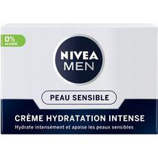 NIVEA MEN Crème hydratante intense peaux sensibles 0% alcool 50ml