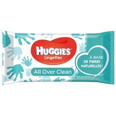 HUGGIES All over clean lingettes pour bébé corps ete visage 56 lingettes