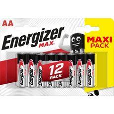 ENERGIZER Energizer Piles LR06/AA alcaline 1,5v 12 pièces