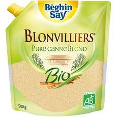 BEGHIN SAY Blonvilliers Sucre roux de canne bio doypack 500g