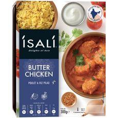 ISALI Butter Chicken poulet et riz pilau 1 personne 300g