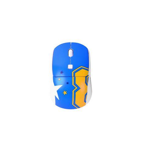 QILIVE BUNDLE SOURIS SF+TAPIS Q.3693 - Bleu, orange et blanc