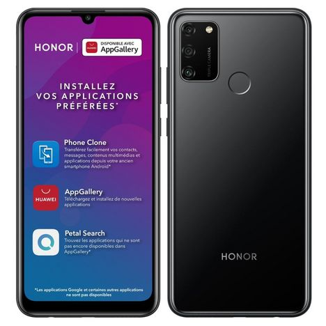 HONOR Smartphone 9A  64 Go  6.3 pouces Noir 4G  Double NanoSIM