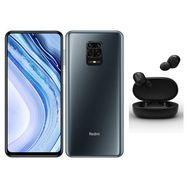 XIAOMI Pack Smartphone Redmi Note 9 Pro 128 Go 6.67 pouces Gris 4G Double Sim + Earbuds Mi True Wireless Basic S Noir