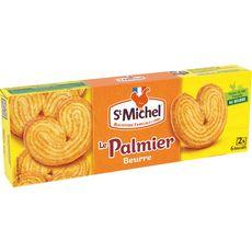 ST MICHEL Palmier au beurre biscuits feuilletés et croustillants, sachets fraîcheur 2x6 biscuits 87g