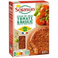 Sojasun SOJASUN Steak végétal aux tomates et basilic