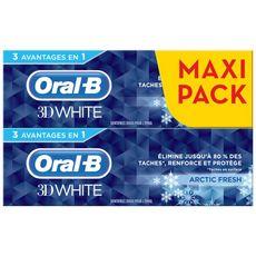 ORAL B Oral B dentifrice 3D white arctic fresh 2x75ml 2x75ml