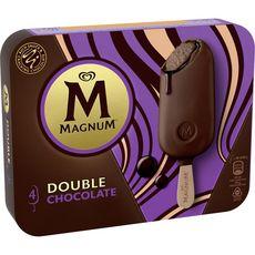 MAGNUM Magnum Bâtonnet glacé double chocolat 276g 4 pièces 276g