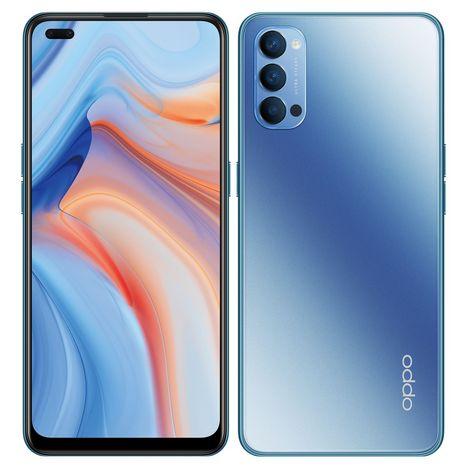 OPPO Smartphone Reno4 128 Go 5G  6.4 pouces Bleu Double NanoSim
