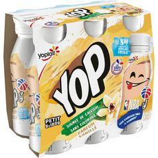 PTIT YOP Yaourt à boire à la vanille 6x180g