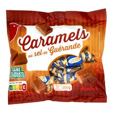 AUCHAN Auchan Bonbons au caramel au sel de Guérande 25 bonbons 200g 25 bonbons 200g