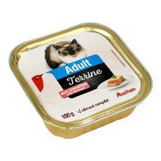 AUCHAN Terrine de pâtée à la crevette pour chat 100g