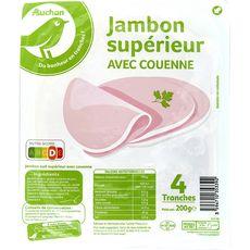 POUCE Pouce Essentiel Jambon supérieur avec couenne 4 tranches 200g 4 tranches 200g