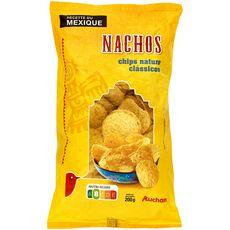 AUCHAN Nachos chips nature 200g