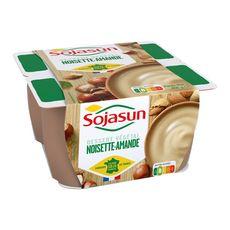 SOJASUN Dessert végétal aux noisettes et amandes 4x100g