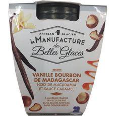LA MANUFACTURE DES BELLES GLACES Crème glacée à la vanille Bourbon de Madagascar 300g