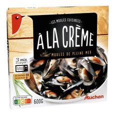 AUCHAN Auchan Moules à la crème 600g