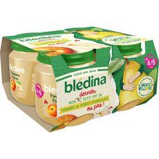 BLEDINA Petit pot dessert pomme poire dès 4 mois 4x130g