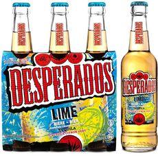 DESPERADOS Bière lime arôme tequila cactus citron vert 3% bteilles 3x33cl