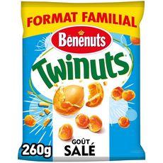 BENENUTS Twinuts cacahuètes enrobées croustillantes goût salé 260g