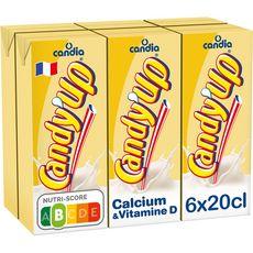 CANDY'UP Boisson lactée à la vanille 6x20cl