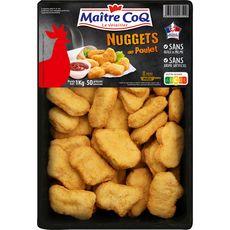 MAITRE COQ Nuggets de poulet 50 pièces 1kg