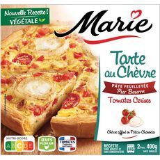 MARIE Tarte au chèvre et tomates cerises 400g