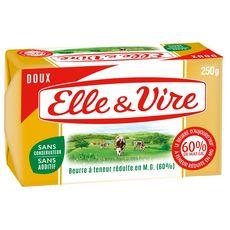 ELLE & VIRE Beurre doux allégé 60%MG 250g