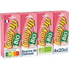 CANDY'UP Boisson lactée à la fraise bio 4x20cl
