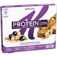 SPECIAL K Special K Protein 4 barres de céréales cassis graine de courge cajou 4x28g 4 barres 4x28g