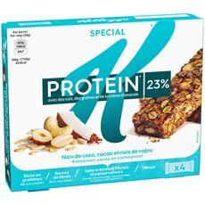 SPECIAL K Protein barres de céréales noix de coco, de cajou et amandes 4 barres 112g