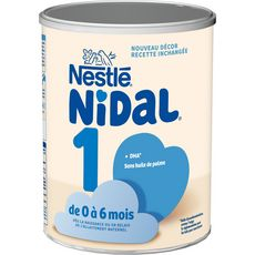 NESTLE Nidal 1 lait 1er âge en poudre dès la naissance 800g