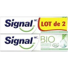 SIGNAL Signal Dentifrice bio fraîcheur naturelle à la menthe 2x75ml
