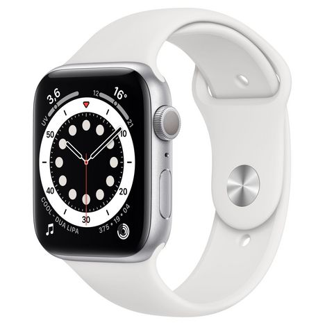 APPLE Montre connectée Apple Watch 44MM Alu Argent/Blanc Series 6