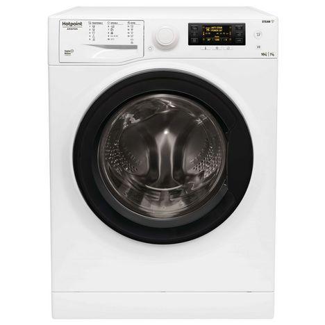 HOTPOINT Lave linge séchant hublot RDD1076287WKEUN, 10 kg lavage, 7 kg séchage, 1600 T/min, Condensation