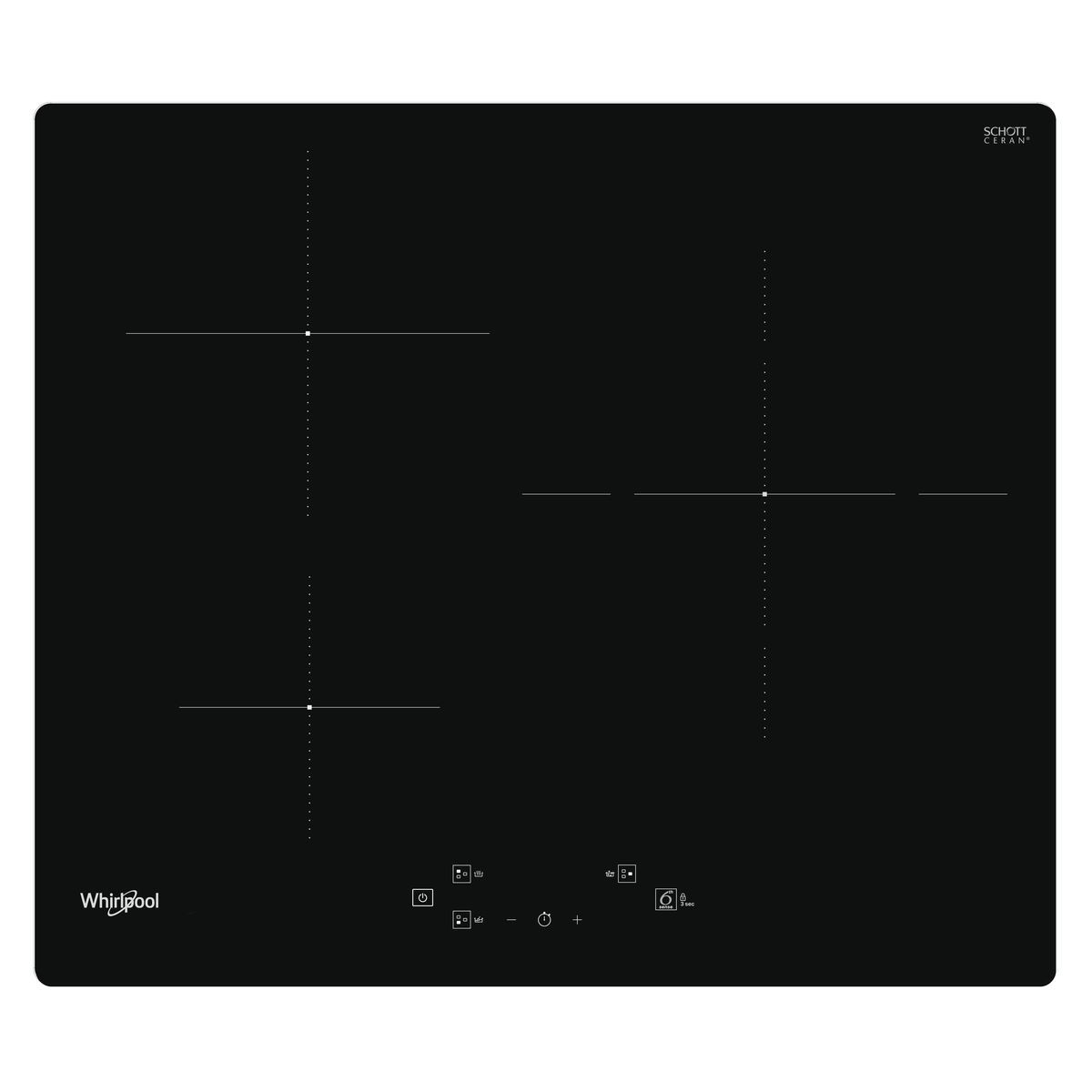 Table de cuisson à induction WSQ1160NE, 60 cm, 3 foyers