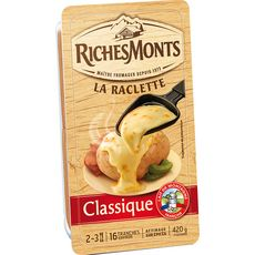 RICHESMONTS Fromage à raclette 16 tranches 420g