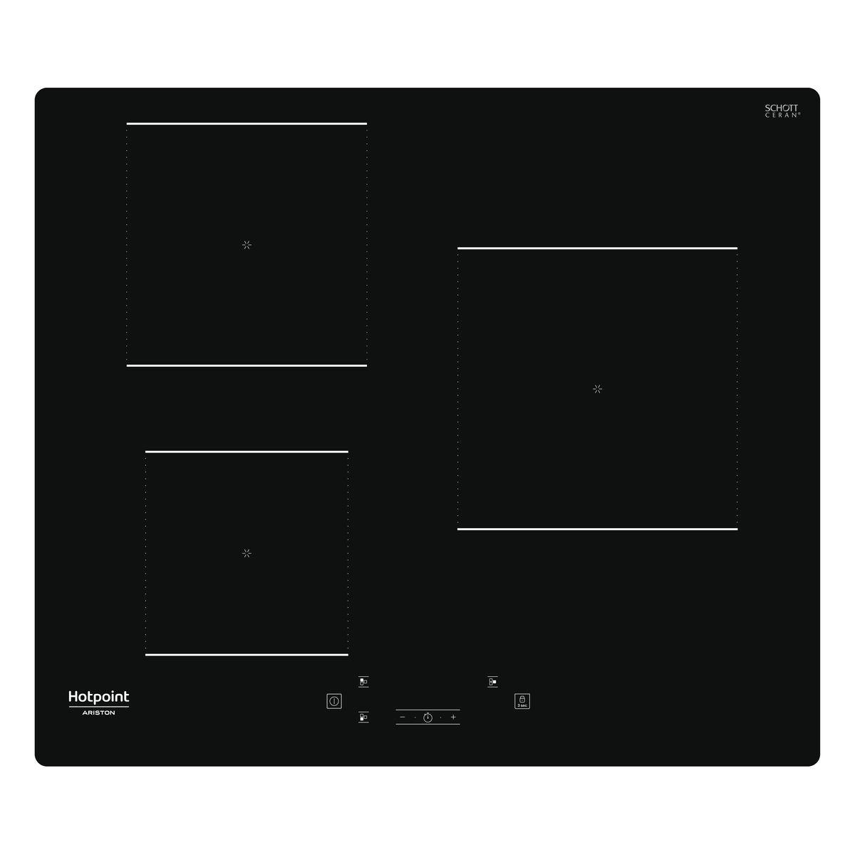 Table de cuisson à induction HQ1160SNE, 60 cm, 3 foyers