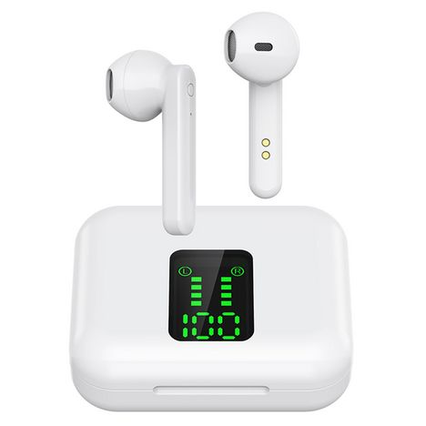 BLAUPUNKT Écouteurs sans fil Bluetooth avec étui de charge et écran - Blanc - BLP 4895