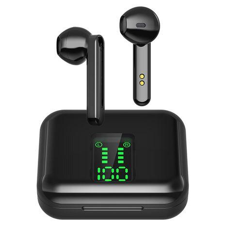 BLAUPUNKT Écouteurs sans fil Bluetooth avec étui de charge et écran - Noir - BLP 4895
