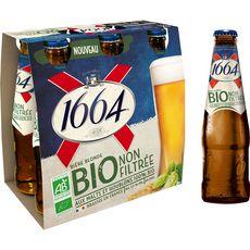 1664 Bière blonde Bio 5,5% bouteilles 6x25cl