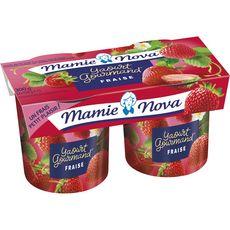 MAMIE NOVA Yaourt brassé à la fraise 2x150g