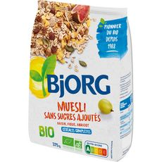 Bjorg BJORG Bjorg Muesli de céréales bio sans sucres ajoutés 375g
